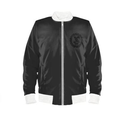 Alesi Custom Bomber Jacket- Black/Black/White