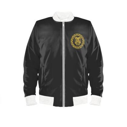 Alesi Custom Bomber Jacket- Black/Gold/White