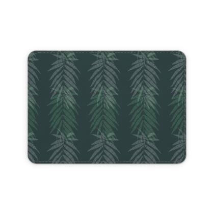 Khaki Jungle Collection Leather Card Case