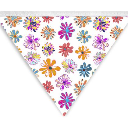Rainbow Daisies Collection Bunting