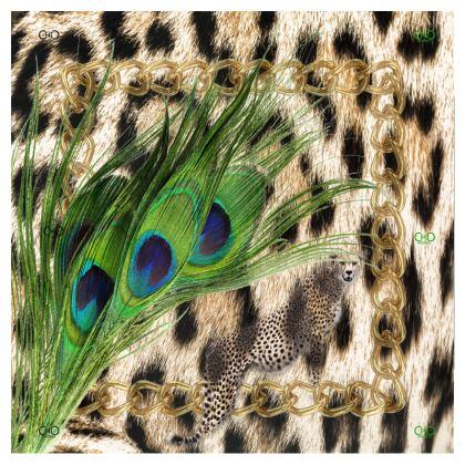 endlessChiC Zip Top peacock cheetah Handbag