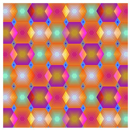 Geometrical Shapes Zip Top Handbag