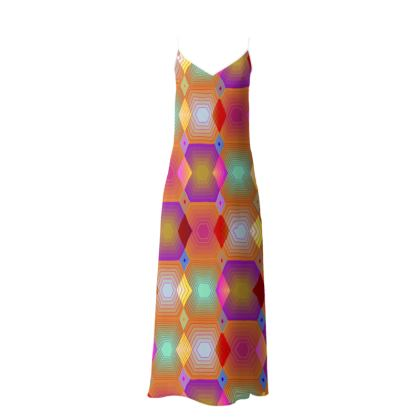 Geometrical Shapes in pastel tones Collection Slip Dress