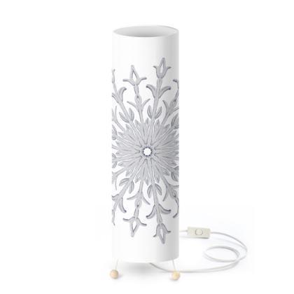 White Christmas Standing Lamp