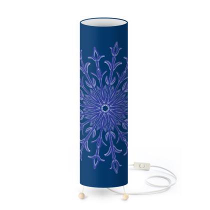 Deep Blue Christmas Standing Lamp
