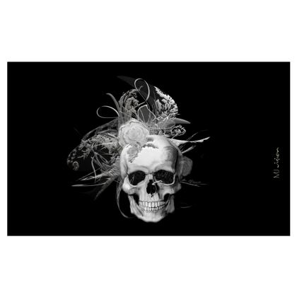 ZIP TOP HANDBAG - ZIP TOP HANDVÄSKA - 2 in one - SKULL 50 SHADES OF GREY