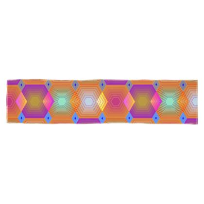 Geometrical Shapes in pastel tones Collection Scarf Wrap or Shawl