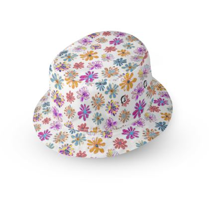 Rainbow Daisies Collection Bucket Hat