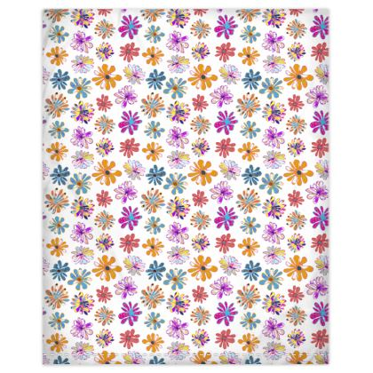 Rainbow Daisies Collection Duvet Cover