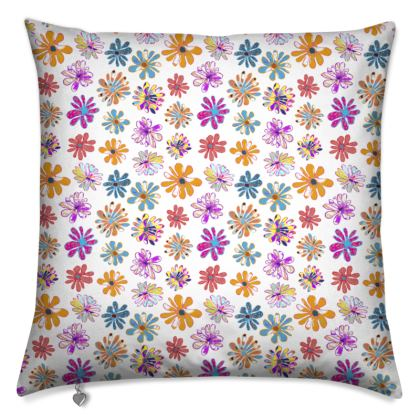 Rainbow Daisies Collection Cushion