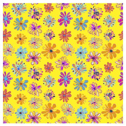 Rainbow Daisies Collection on yellow Espadrilles