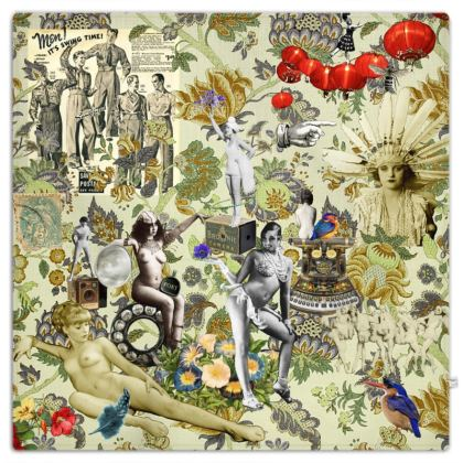 The Muse is Here Picnic Blanket