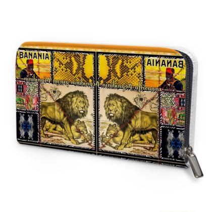 149,- Leder-Geldbörse im Africaans Look, sehr feines weiches Leder