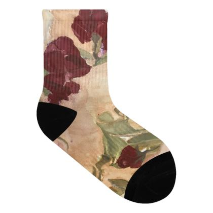 Incandescent Rose Socks