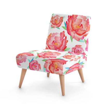 Blushed Out Peony Occasional Chair
