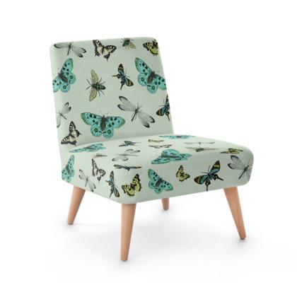 Elegant U0027Flying Highu0027 Illustrative Butterfly Print Chair