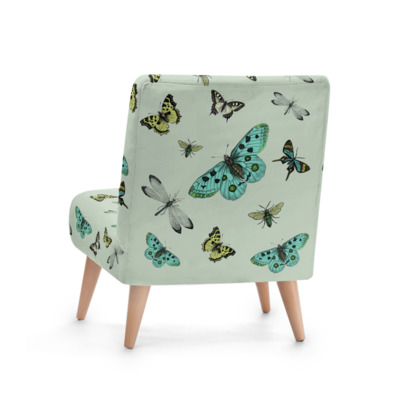 Lovely U0027Flying Highu0027 Illustrative Butterfly Print Chair