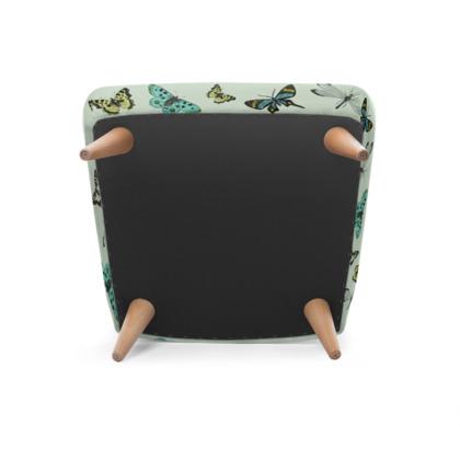 U0027Flying Highu0027 Illustrative Butterfly Print Chair