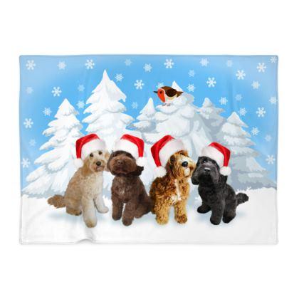 DOODLE CHRISTMAS Blanket