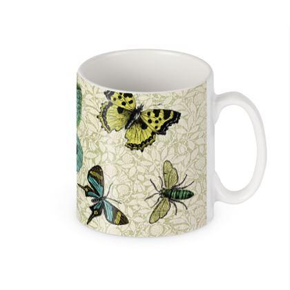 'Flying High' butterfly mug
