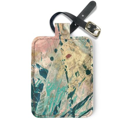 FANTASIA l]eather Luggage Tag by Rachel Rosa ART