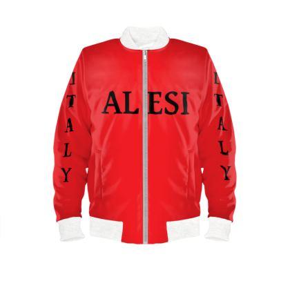 Alesi Custom Bomber Jacket- Red/Black/White