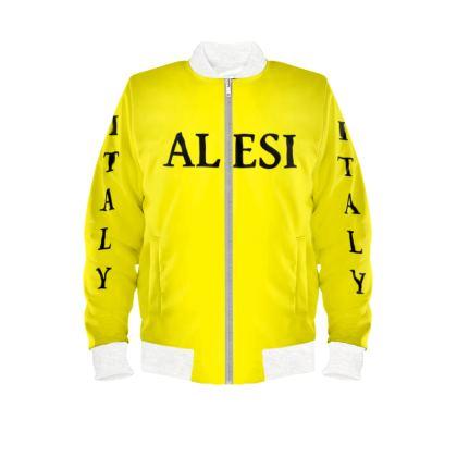 Alesi Custom Bomber Jacket- Yellow/Black/White