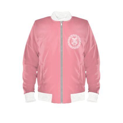 Alesi Custom Bomber Jacket- Pink/White/White