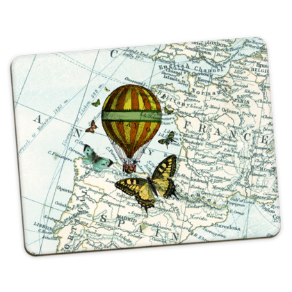 Travel inspired homeware placemats