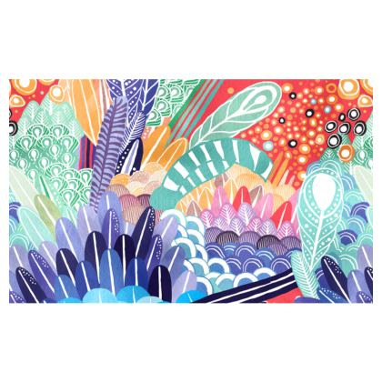 Feathers Zip Top Handbag