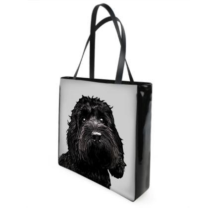 Black COCKAPOO Shopper Bags