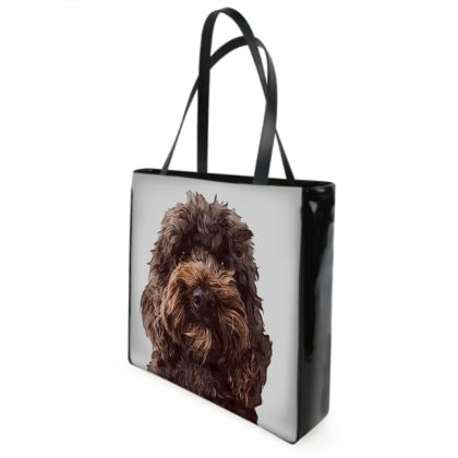 Chocolate COCKAPOO Shopper Bags