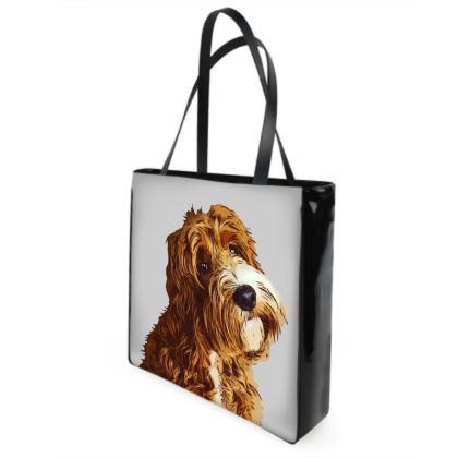 Red COCKAPOO Shopper Bags