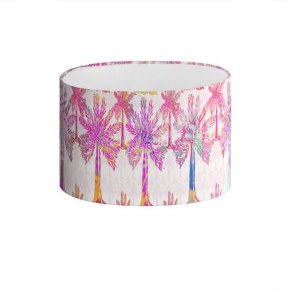 Oasis Collection in magenta Drum Lamp Shade