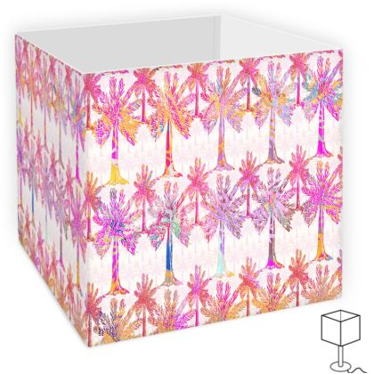 Oasis Collection in magenta Square Lamp Shade