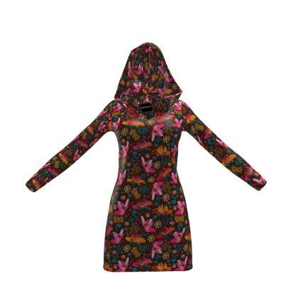 Tropical flower Hoody Dress