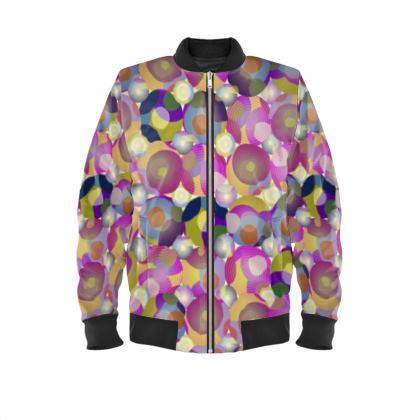 Moon Collection on cream Ladies Bomber Jacket