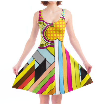 THE FACTORY OF COLOURS, Skater Dress