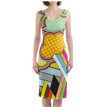THE FACTORY OF COLOURS, Bodycon Dress