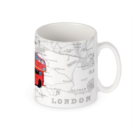 Butterfly London Bus' quirky mug