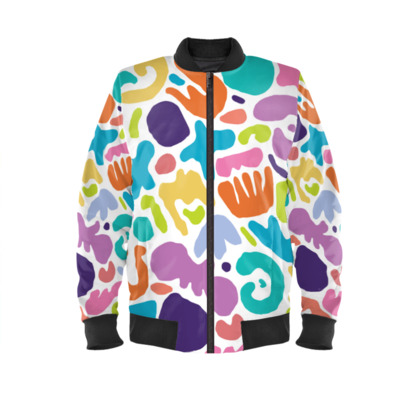 Pastel Cut Out Shapes - Bomber Jacket