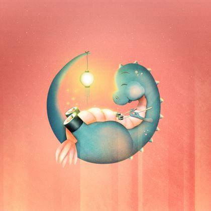 Sushi Dinosaur Handbags