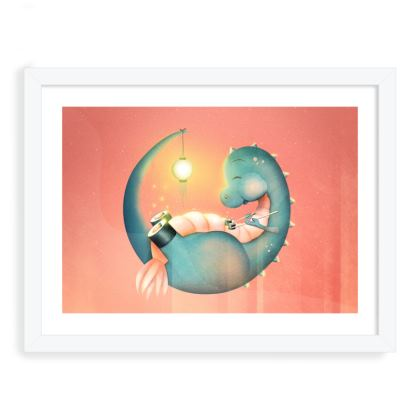 Sushi Dinosaur - Framed Art Prints