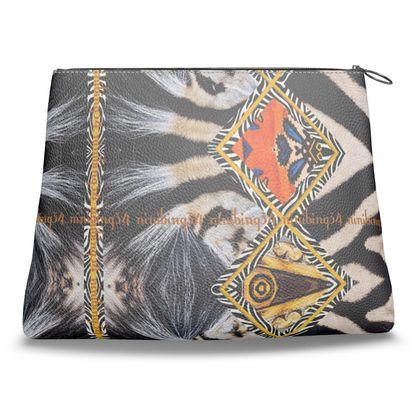 279,- Clutch-Tasche aus feinem italienischen Nappaleder AFRICAANS unwiderstehlich NEU und Mega dekorativ
