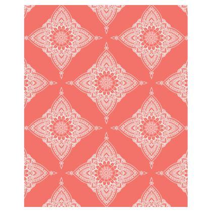 Ladies Tunic T Shirt - Boho / Living Coral