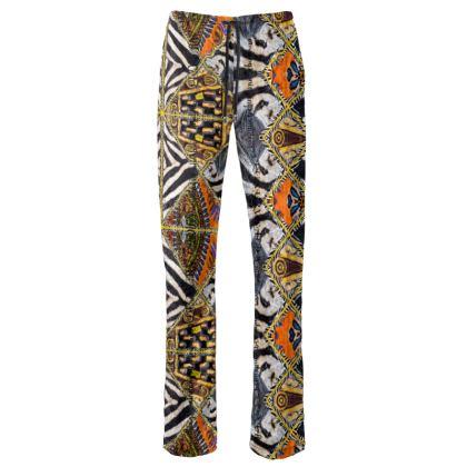 229,- Euro Luxury ladies pant AFRICAANS unwiderstehlich NEU und Mega dekorativ size M