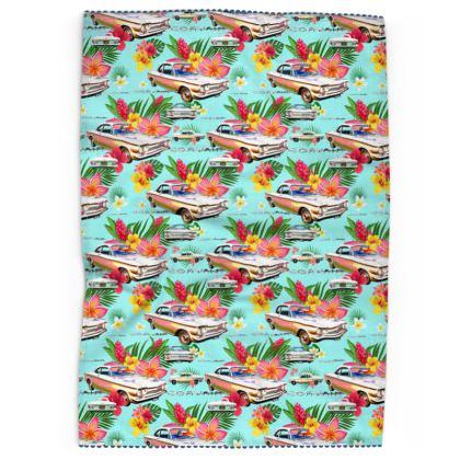 Turqoise Hawaiian Corvair Tea Towels