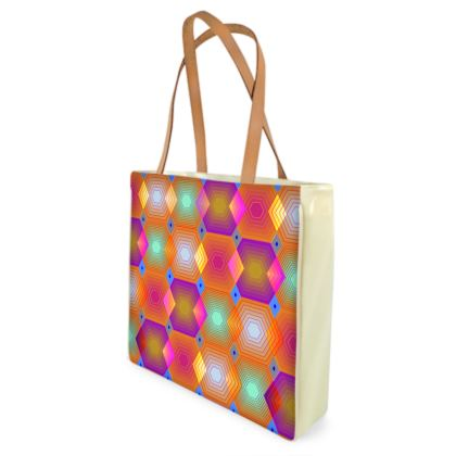 Geometrical Shapes Collection Beach Bag