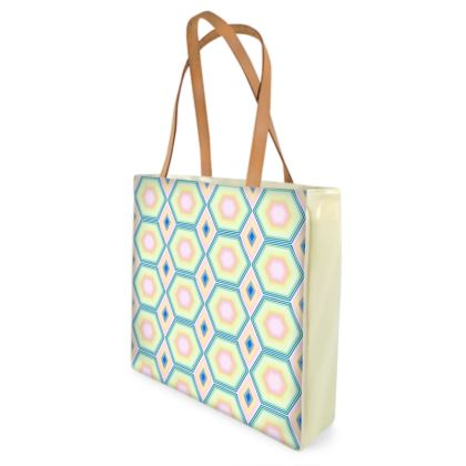 Geometrical Shapes in pastel tones Collection Beach Bag