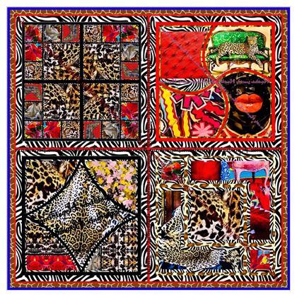 Sensationsseide Afrikaans  MAXI Größe 135 x 135 cm